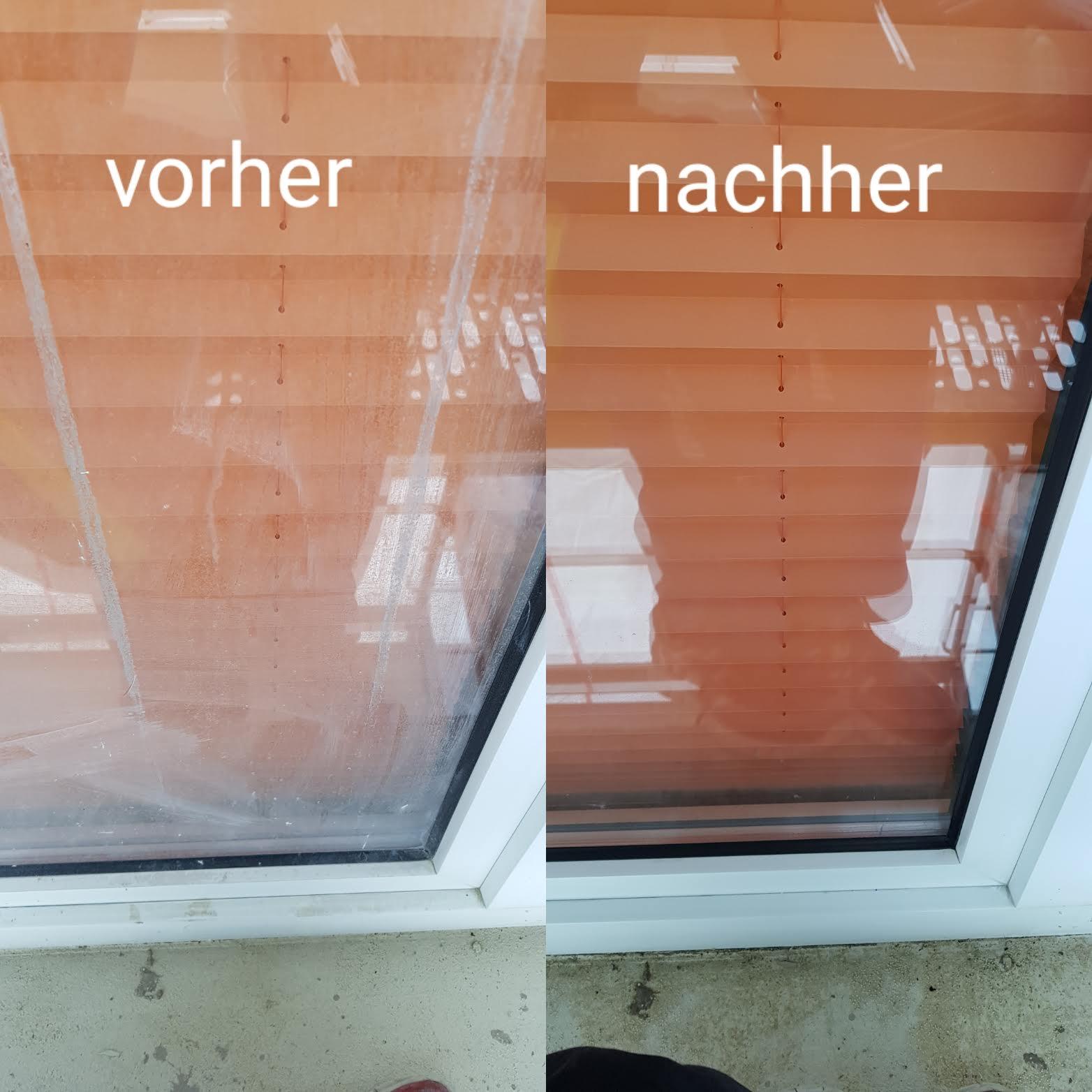 Vorher / Nachher: Beispiele Fensterreinigung