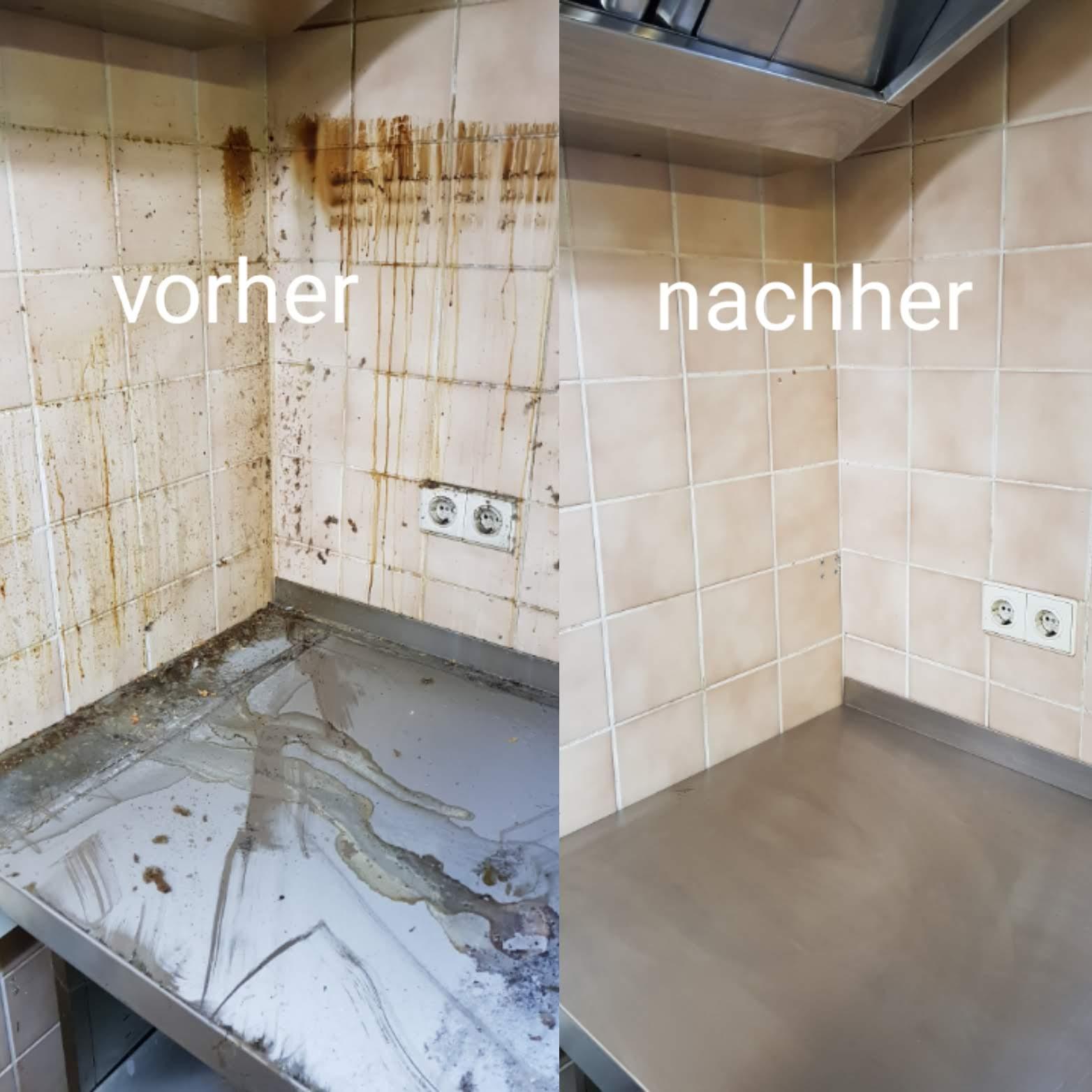 Vorher / Nachher: Küchenreinigung